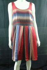 BB DAKOTA Sz 18 Dress Sleeveless Stripe Ombre Tie Dye Polyester Sislou S9b2
