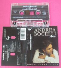 MC ANDREA BOCELLI Aria the opera album 1998 italy SUGAR 77814 no cd lp vhs dvd