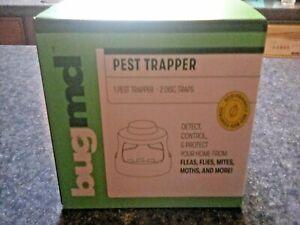 BugMd Pest Trapper & 2 Disc Traps~2 Disc  Traps~Fleas Flies Mites Moths Wasps
