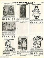 """1981 ADVERT Horsman Dolls 24"""" Emmett Kelly Lovely Sofskin Eugene Honeykins Lisa"""