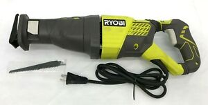 Ryobi RJ186V 12 Amp Variable Speed Corded Reciprocating Saw, GR