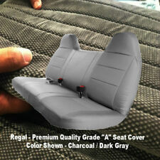 F-Series F23 Automotive 10mm Thick CHARCOAL Bench Seat Cover Molded Headrest