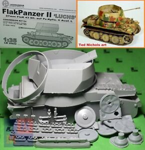 "1/35.  FlakPanzer II Ausf.L ""Luchs"" convertion set, by ""Leadwarrior""  LW35022"
