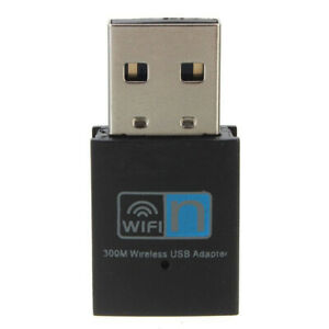 300Mbps Mini Wireless USB Wi-fi Wlan Adapter 802.11 b/g/n Network LAN Dongle New