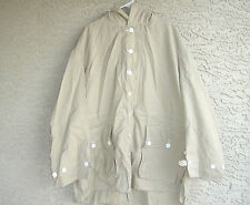 Vintage Swedish Army off white winter snow camo parka shell Mens 2XL TO 3XL new