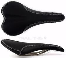 Charge Bikes Spoon Saddle CrN / Ti Titanium Alloy Rails Road MTB - Black