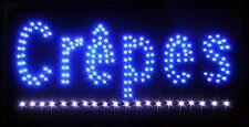 Crepes LED Schild Leuchte Display Leuchtreklame Reklame Leuchtschild Werbung