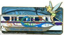 Disney Pin: WDW White Glove - Where Dreams Come True: Monorail & Tink (LE 500)
