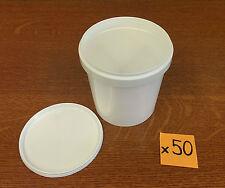 Mixing Pots & Lids  500ml  x 50   (Ref:AA017195/AA017196)