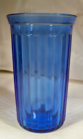 HAZEL ATLAS GLASS CO. AURORA COBALT BLUE 10-OUNCE FLAT BEVERAGE TUMBLER-MINT!