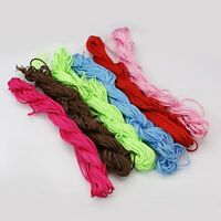 13m Nylon Thread, Shamballa woven bracelet 2mm Cord. 10 Colours. (C6)