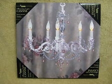 Chandelier Lighted Canvas Wall Decor Sign Dining Room Kitchen Fancy