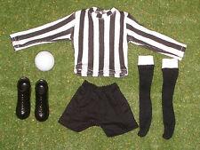 Vintage Action Man 40th deportista Suelto Futbolista Botas Negro Y Blanco Tira Etc