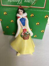 Biancaneve Porcellana Treasure Disney Grolier Ornamento Natalizio IN Scatola