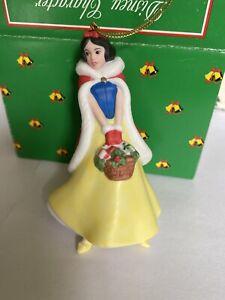 Snow White Porcelain Treasure Disney Grolier Christmas Ornament New In Box