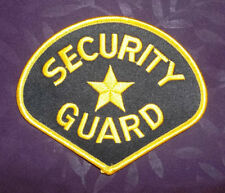 SECURITY GUARD PATCH COSTUME COSPLAY  EMBROIDERED SEW/ IRON ON DIY
