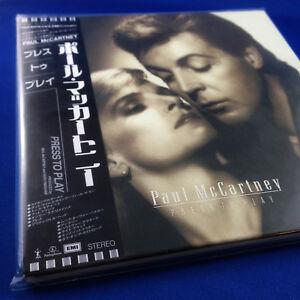Paul McCartney: Press To Play (RARE JAPAN PROMO Mini LP Replica CD TOCP-65516)