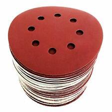 Disque Ponçage Papier Abrasif 125 mm 60 Disques PRO P40/60/80/120/180 8 Trous FR