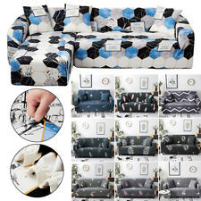 1/2/3/4 Seaters Geometric L Shape Elastic Recliner Cover Slipcovers Sofa Covers