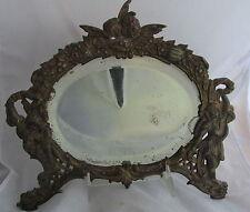 Antique Victorian Kissing Cherubs Cast Brass Bronze Finish Picture Mirror Frame