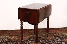 Tavolo a bandella con cassetti e scomparto posteriore in legno table '800 old