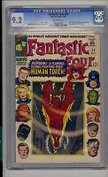 Fantastic Four #54 CGC 9.2 NM- Unrestored Marvel 3rd Black Panther Inhumans app.