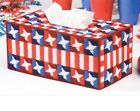 STAR SPANGLED TISSUE BOX COVER PATRIOTIC PLASTIC CANVAS PATTERN INSTRUCTIONS