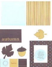 MME Second Avenue 12 x 12 Scrapbooking 8 Piece Page Kit - AUTUMN Leaves Acorn