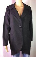 NWOT Cabi Charcoal Gray Ponte Knit Long-Line Pockets Women's Blazer/Jacket SZ S