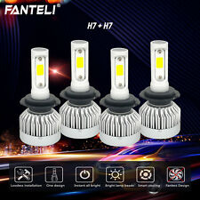 H7+ H7 2600W 390000LM Combo CREE Fanless LED Headlight Kit High&Low Light Bulbs