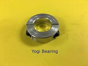 2pc---1-1//2/'/' Bore Double Split Steel Clamping Shaft Collar Black Oxide