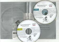 ORIGINALE AUDI RNS-E 2004-2009 Disco di navigazione DVD NAVIGATORE SATELLITARE MAPPA 2007 Set Completo 2 CD