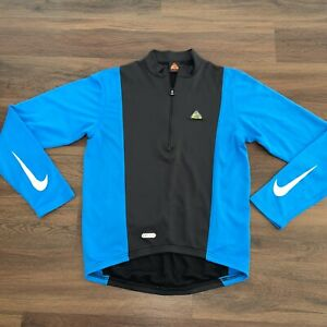 VINTAGE 90'S NIKE ACG MEN'S DRI - FIT CYCLING SHIRT, SIZE MEDIUM, MADE IN USA.