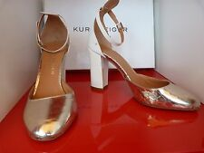 KURT GEIGER LONDON £250 SILVER / WHITE  SANDALS / SHOES.. UK 3   EU 36