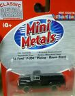 Classic Metal Works HO Scale 54 Ford F350 Pickup Raven Black Item# 30200