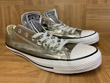 RARE🔥 Converse Chuck Taylor All Star Metallic Silver 11 Men's Shoe 153180F #1