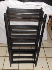 Solid Oak Mission Bookshelf Bookcase Black Distressed Finish SH39