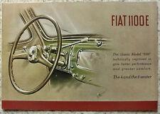FIAT 1100E Car Sales Brochure c1949 #1055