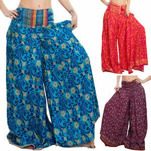 Pantaloni donna etnici Ibiza larghi yoga boho harem sarouel TOOCOOL RK-14