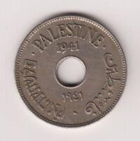 Palestine 10 Mils Mil 1941 KM4 XF+ Israel British Mandate Coin WW2 Key Date