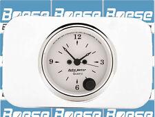 37 38 Chevy Car Billet Aluminum Insert w/ Auto Meter Old Tyme White Clock