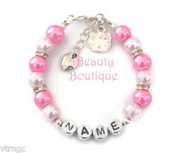 Hello Kitty Personalized Girl's Charm Bracelet Hand Made Gift Any Name US Seller