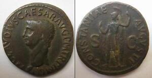 IMPERO ROMANO - CLAUDIO (41-54 D.C.) - RARO ASSE IN BRONZO - CERTIFICATO