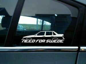 NEED FOR SWEDE sticker - For Volvo 850 sedan 4 door | T5 | retro