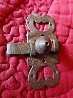 Ancien verrou de porte en fer forgé-loquet-clenche-18 ème-old door lock