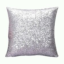 "16"" Mermaid Pillow Sequin Cover Glitter Sofa Waist Throw Cushion Case Home Decor"