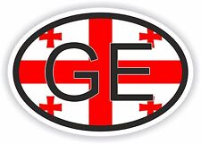 Bandera de Georgia Europa con f Código De País Pegatina motociclismo Auto Camión Portátil