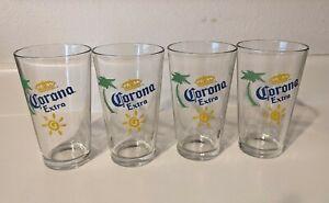 Corona Extra Pint Glasses 4pc