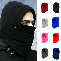 Outdoor Windproof Hat Warm Cap Thermal Fleece Balaclava Ski Face Mask Neck Hood