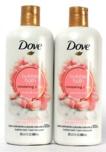 2 Count Dove 23 Oz Renewing Care Peony & Rose Natural Nourishers Bubble Bath